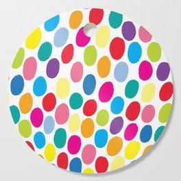 Colour Spots White Cutting Board