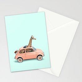 GIRAFFE CAR Stationery Cards