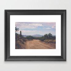 Down Desert Roads Framed Art Print