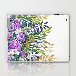Gold Glitter Purple Garden Laptop & iPad Skin
