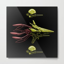 The Bioship Shinden Metal Print