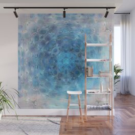 Pool of Frosted Ice Petals Wall Mural