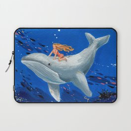 A Girl & Her Whale Laptop Sleeve