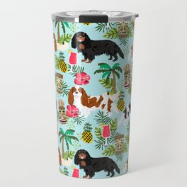 Cavalier King Charles Spaniel tiki hawaiian island tropical dog breed pattern dogs Travel Mug