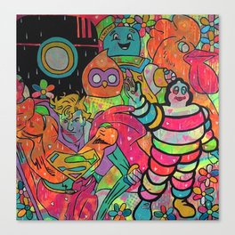 Poker face by Barrie J Davies 2015 Canvas Print
