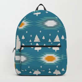 Trees in snow- ethnic pattern Backpack