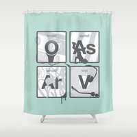hip hop Shower Curtains featuring Elements of Hip Hop by Jason St. Peter