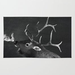 Elk and Rabbit Rug
