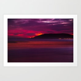 A Surf Sunset - Minimalism Art Art Print