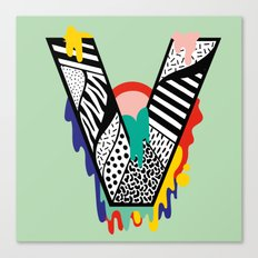 V for …. Canvas Print