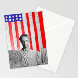 Red White Black And Blue Super Tall Stationery Cards