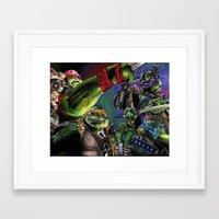 teenage mutant ninja turtles Framed Art Prints featuring Teenage Mutant Ninja Turtles by artbywilliam