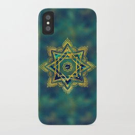 Golden Decorative Star of Lakshmi - Ashthalakshmi iPhone Case