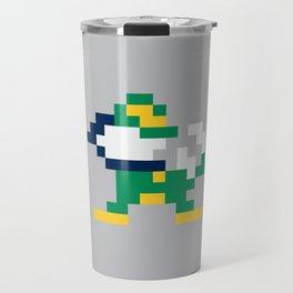 8bit Notre Dame Logo Travel Mug