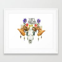 totes Framed Art Prints featuring Totes Magotes by Ariana Victoria Rose
