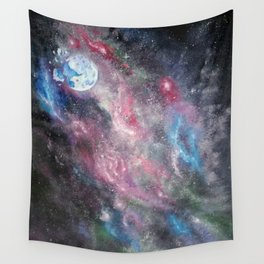 Space and the Moon Wall Tapestry