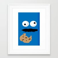 cookie monster Framed Art Prints featuring Cookie Monster by Callum McGoldrick