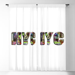 NYC (typography) Blackout Curtain