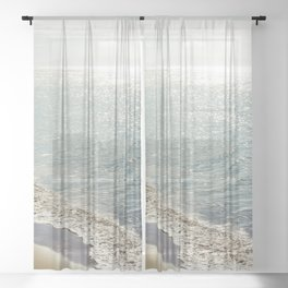 beauty and the beach Sheer Curtain
