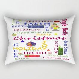 Christmas Message Rectangular Pillow