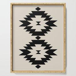Southwestern Minimalism - Black Serving Tray