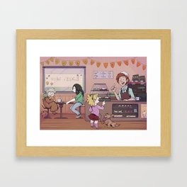 5 currant buns Framed Art Print