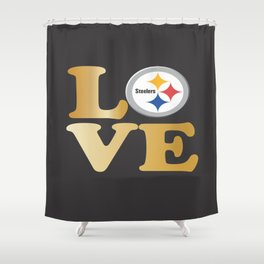 Pittsburgh Steelers_Love Shower Curtain