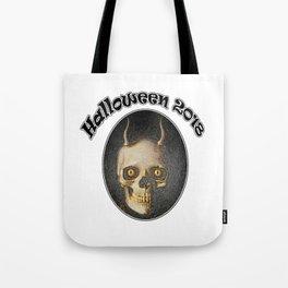 Halloween 2018 horned Devil skull Tote Bag