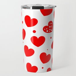 Beautiful Red hearts Travel Mug