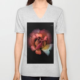 Rose fatiguée colors fashion Jacob's Paris Unisex V-Neck