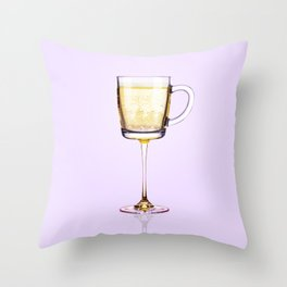 Morning Champagne Throw Pillow