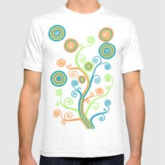 Glow Tree Mens Fitted Tee SMALL White
