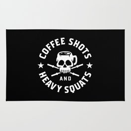 Coffee Shots and Heavy Squats Rug