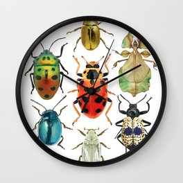 Beetle Compilation Wall Clock