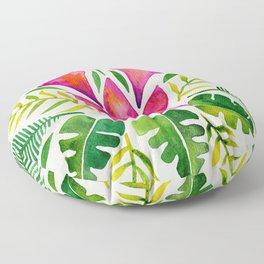 Tropical Symmetry – Pink & Green Floor Pillow