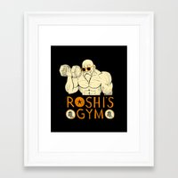 gym Framed Art Prints featuring roshi's gym by Louis Roskosch