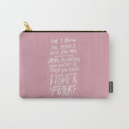 Jeremiah 29: 11 x Rose Carry-All Pouch