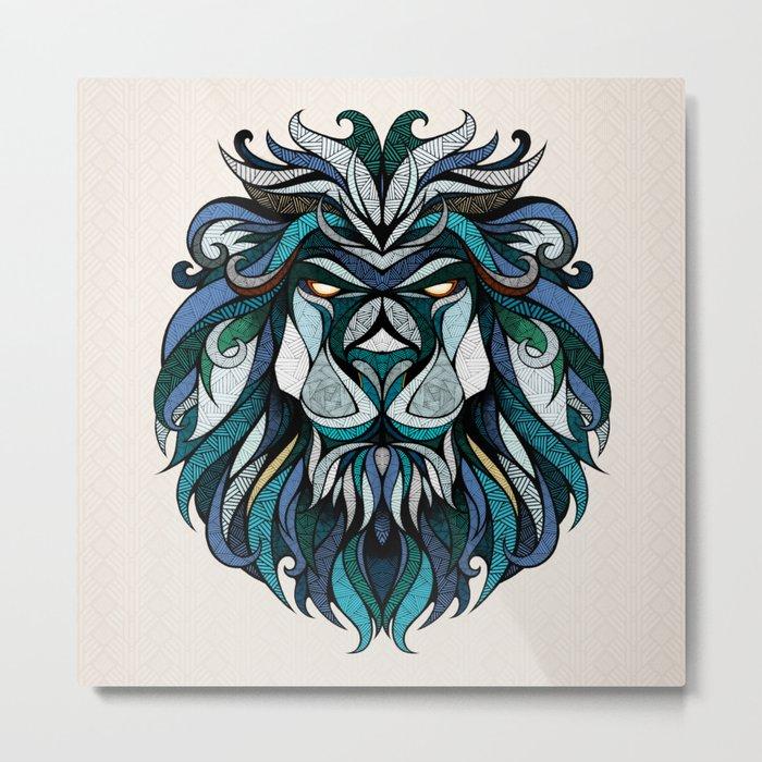 Blue Lion Metal Print