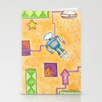 lab Stationery Cards featuring Robot Lab by Cheryl Chiappetta Murray