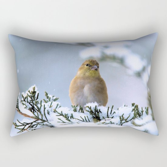 Is This Heaven? (American Goldfinch) Rectangular Pillow