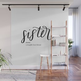 Sister Quote Definition Wall Mural