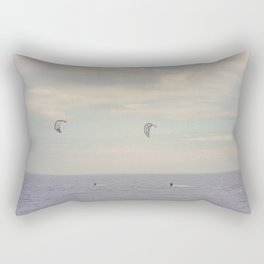 Kitesurfing on the St-Lawrence river (Québec, Canada) Rectangular Pillow