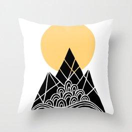 Sun Over The Mountains Throw Pillow