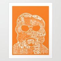 big lebowski Art Prints featuring Big Lebowski by Pixie Tish Brayman