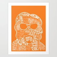 the big lebowski Art Prints featuring Big Lebowski by Pixie Tish Brayman