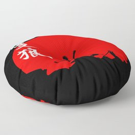 The One Armed Wolf Floor Pillow