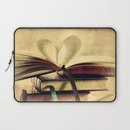 Book Heart Library Modern Cottage Chic Modern Country Art A448 Laptop Sleeve
