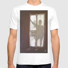 Shadowman X-LARGE White Mens Fitted Tee