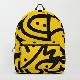 Yellow Graffiti Art Looking for the Sun Backpack