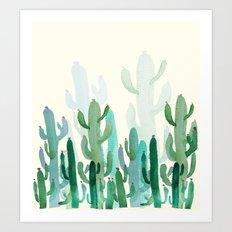 cactus world Art Print